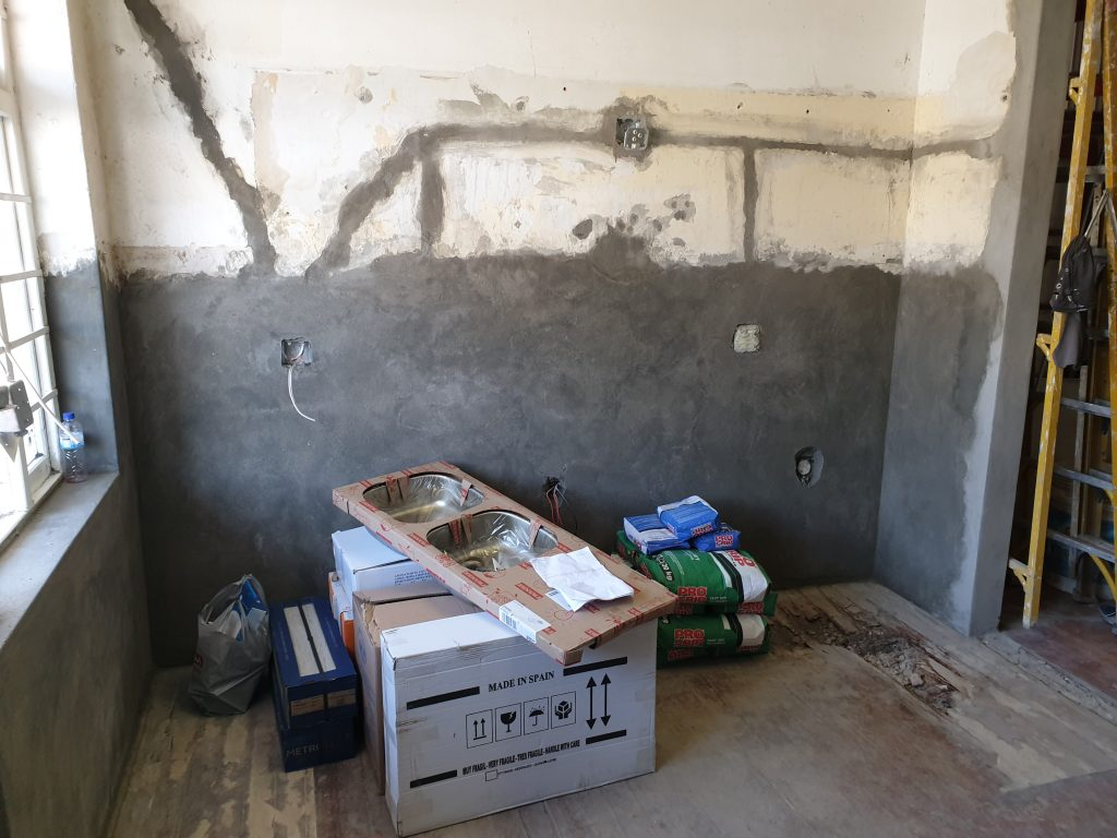 Relocation and installation of wall sockets.