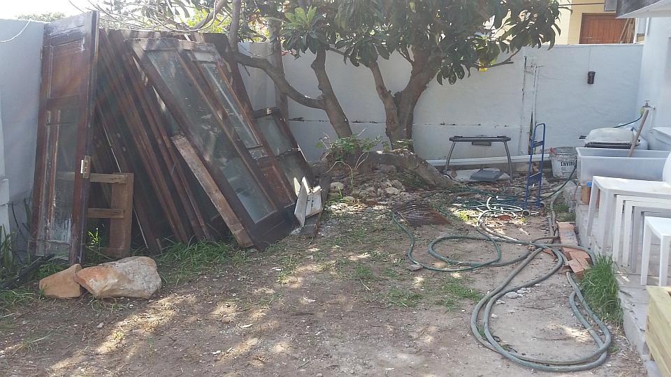 Back yard before