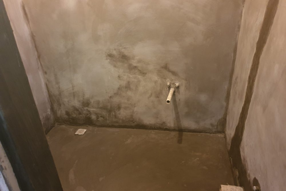 Cementitious waterproofing applied