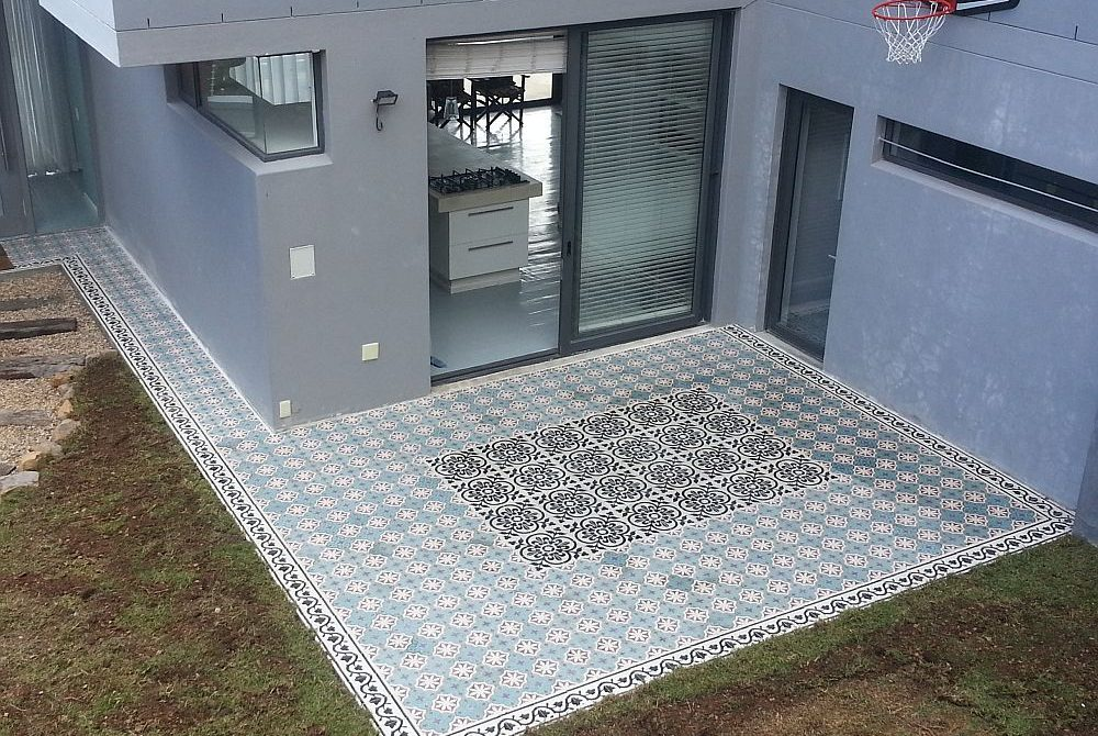 Tiling with Moroccan style tiles